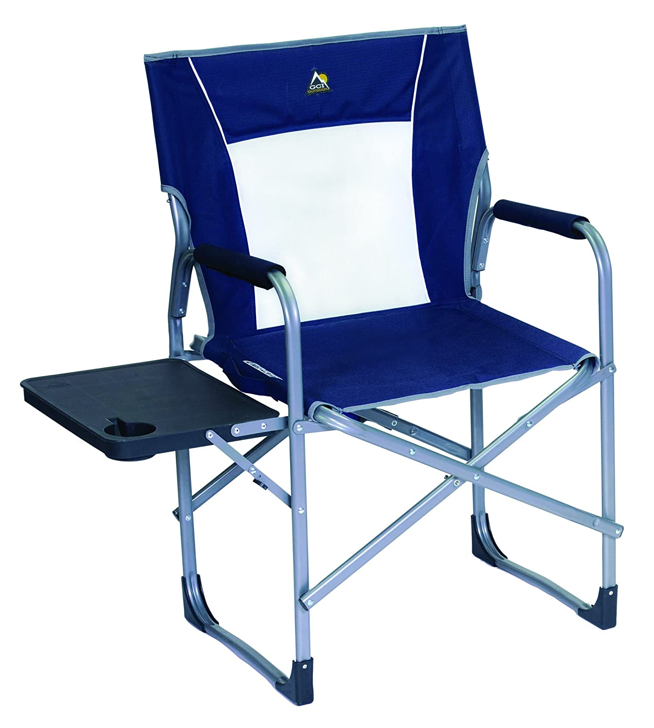 GCI Outdoor Slim-Fold Director s Camp Chair with Side Table