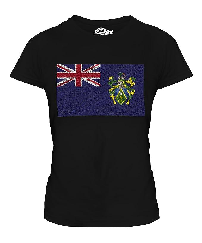 CandyMix Pitcairninseln Kritzelte Flagge Damen T Shirt: Amazon.de:  Bekleidung
