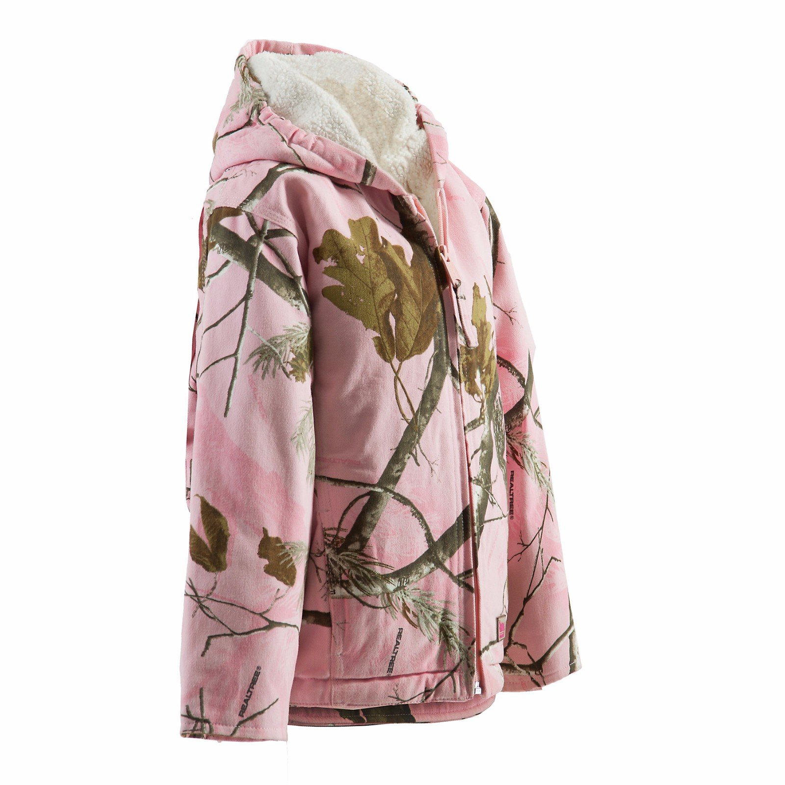 Berne Daisy Sherpa Lined Coat - Fine Sherpa Lined Realtree Pink Regular - L by Berne (Image #1)