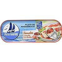 Petit Navire Filets de Maquereaux Tomates Cuisinés aux Herbes MSC 169 g