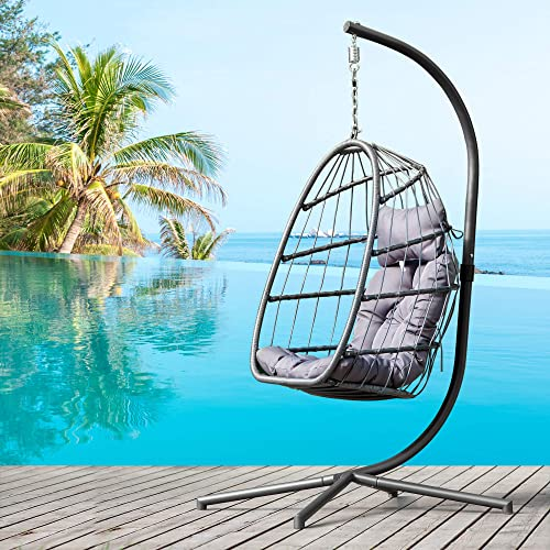elify Wicker Hanging Swing Chair