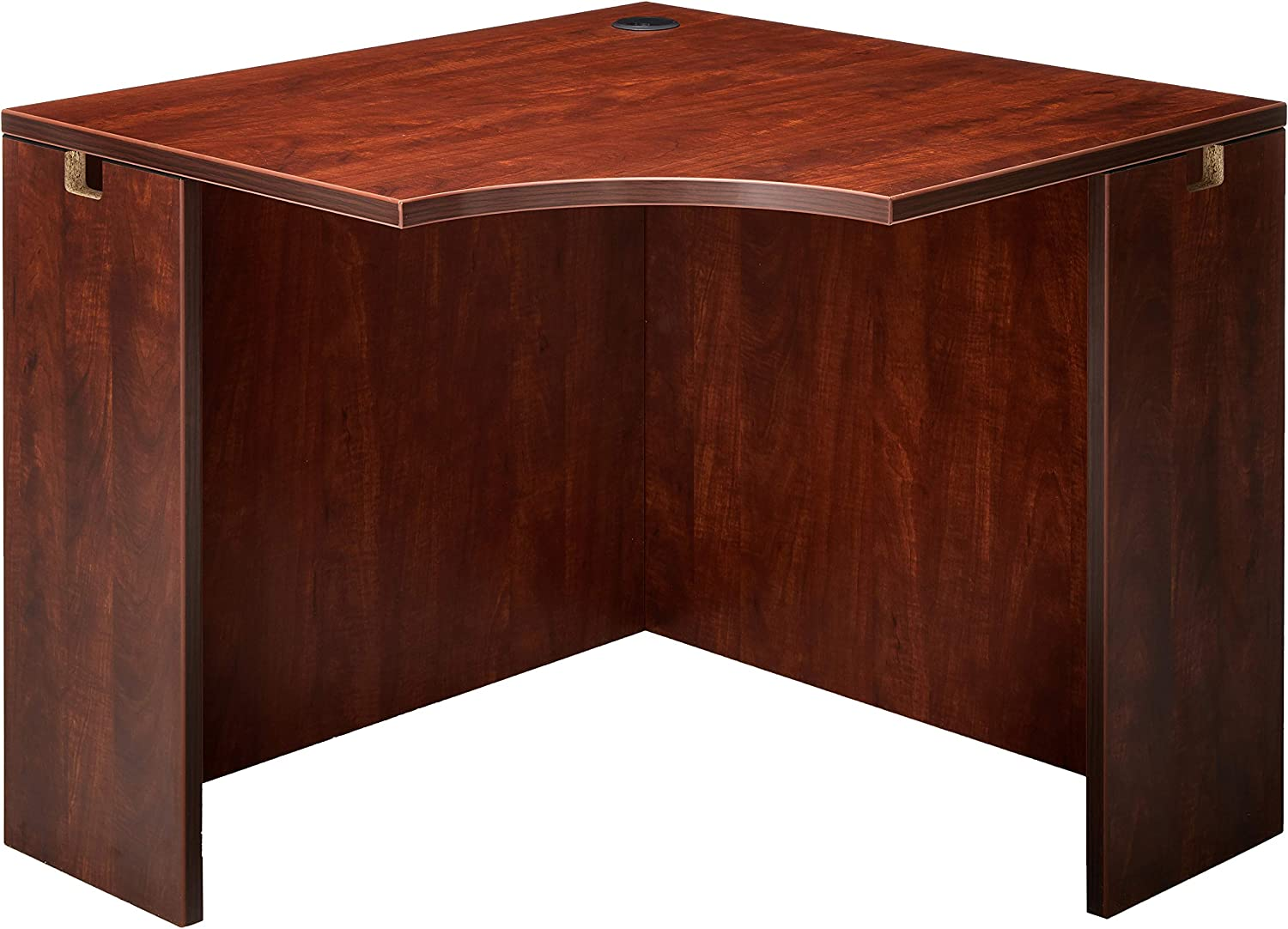 Lorell Corner Desk, Cherry, 36 by 42 by 29-1/2-Inch