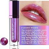 SYZUGY Gloss labbra, Rossetto liquido bicolore, colore per labbra idratante brillantezza estrema, Lucida labbra glitterato brillante, Moony Woods
