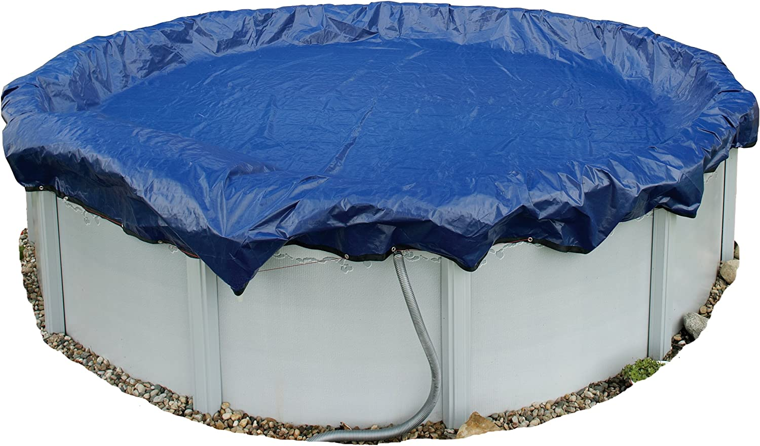 Blue Wave BWC908Gold 15-Year 24-ft Round Above Ground Pool Winter Cover,Royal Blue