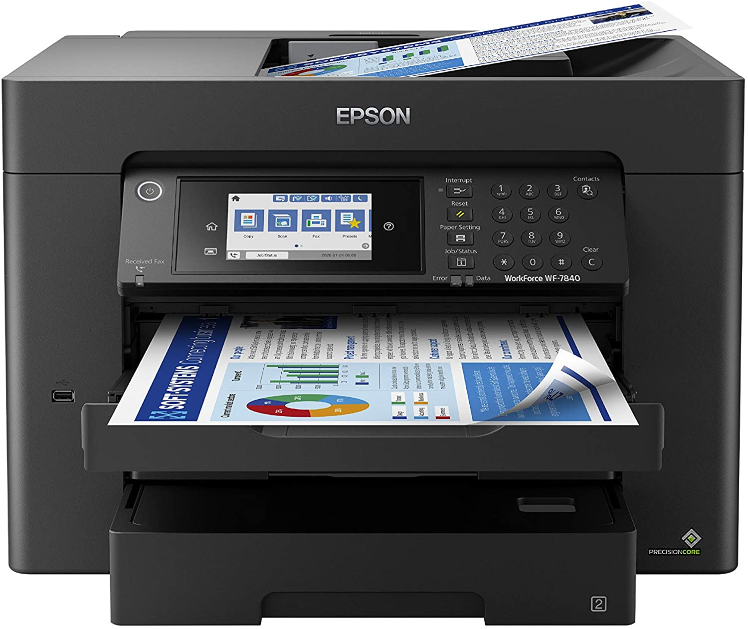 Epson WorkForce Pro WF-7840 Wireless All-in-One Wide-format Printer with Auto 2-sided Print up to 13