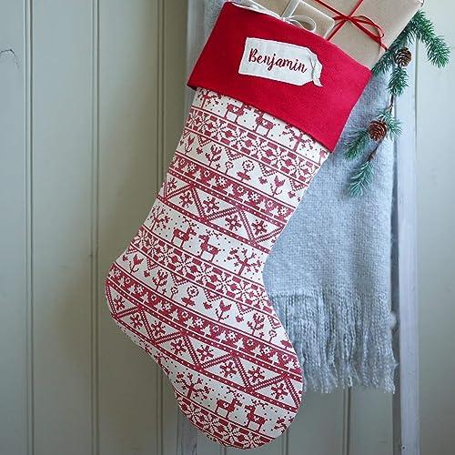 Grey Christmas Stockings Personalised.Christmas Stockings Personalised Christmas Stocking Scandi