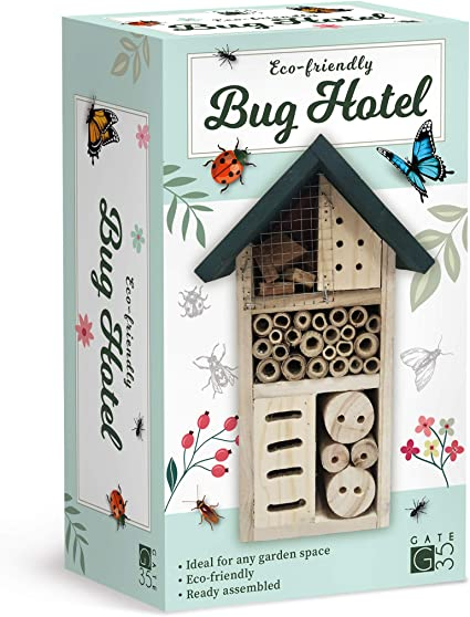 Amazon Com Eco Friendly Bug House Hotel Insect Nest Box For Gardens And Yards Garden Outdoor