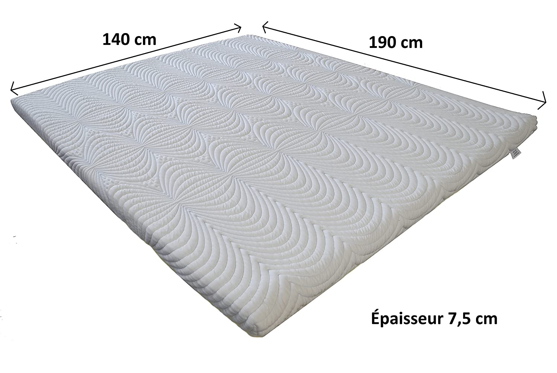 Cubrecolchón de 100% espuma viscoelástica, 140 x 190 cm, ideal para la fibromialgia, artritis, ciática: Amazon.es: Hogar