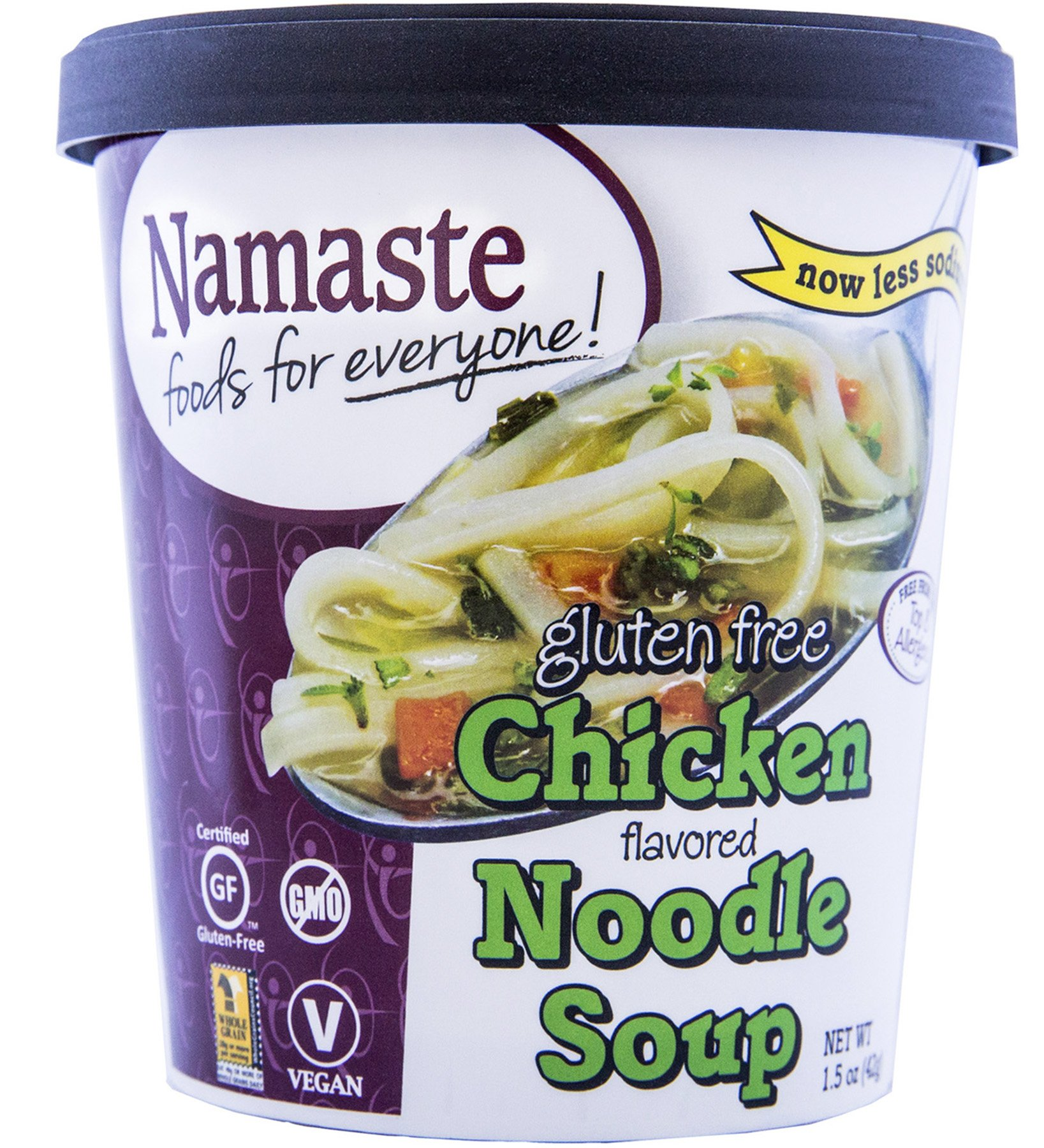 Namaste Foods Gluten Free Chicken Noodle Soup, 1.5 Ounce (Pack of 12) by Namaste Foods