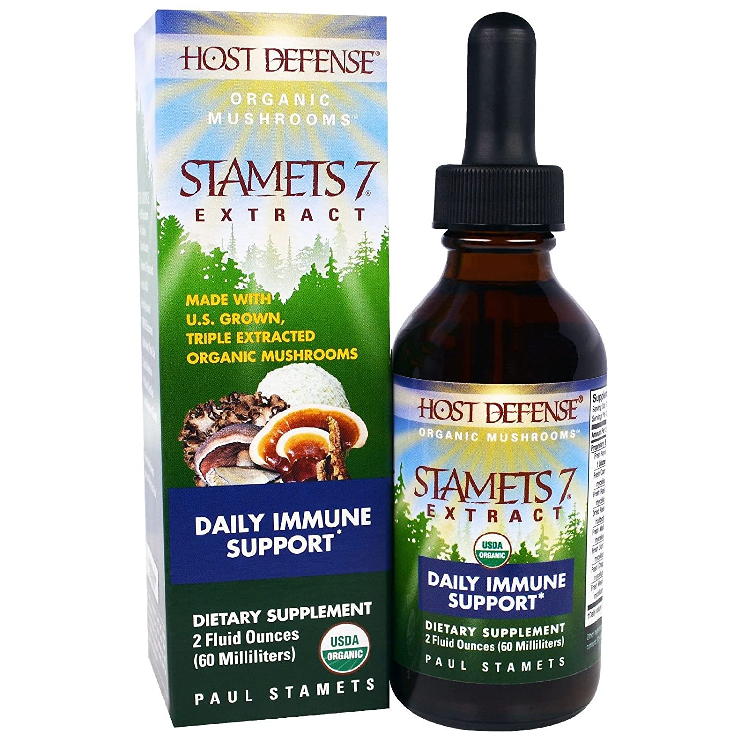 Host Defense, Stamets 7 Extract Organic, 2 Ounce