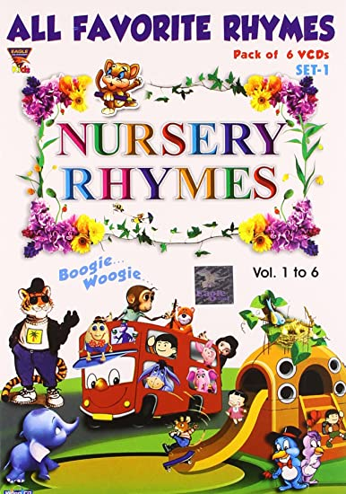 Amazon in: Buy Nursery Rhymes (Set 1) Pack of 6 VCD DVD, Blu
