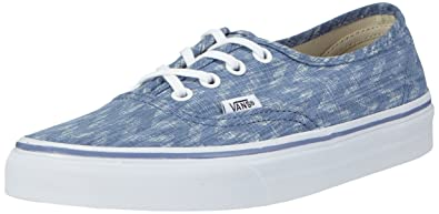 Vans Authentic (Denim Chevron BlueTrue White) Women's Shoes 8