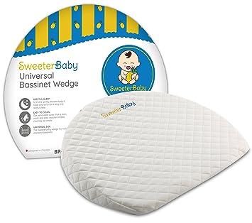 Amazon.com: Cuña de Bassinet, almohada de bebé para Reflux y ...