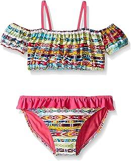 dda8cf52c8 Amazon.com: Planet Sea Little Girls Pink Fringed Halter Tankini 2 Pc ...