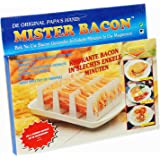 CrazyGadget® Mister Bacon Microwave Breakfast Cooking Browning Crisper Stand
