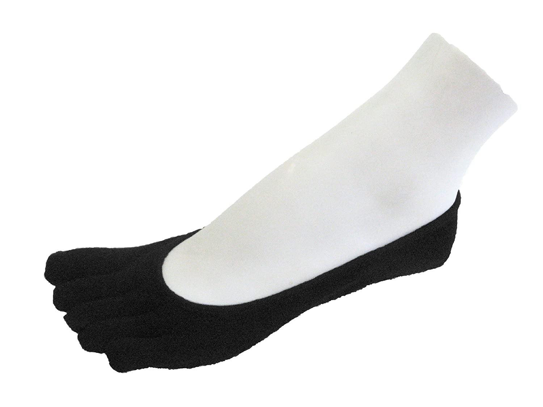 Couver Mens//Womens Super Low Cut 5 Finger Toed Toe socks