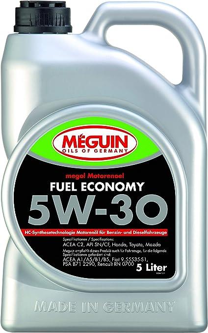 Meguin P002065 9441 Megol Engine Oil Fuel Economy Sae 5w 30 5 L Auto