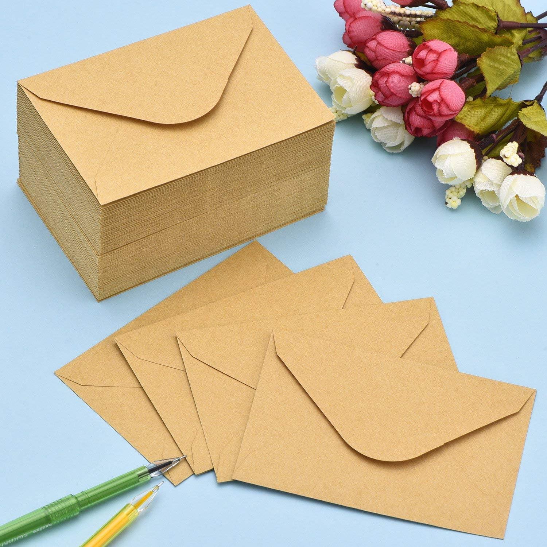 Marron Diff/érents mod/èles Avec fermeture trap/èze. 25 Umschl/äge 02 Enveloppes longues DIN en papier kraft Avec collage humide