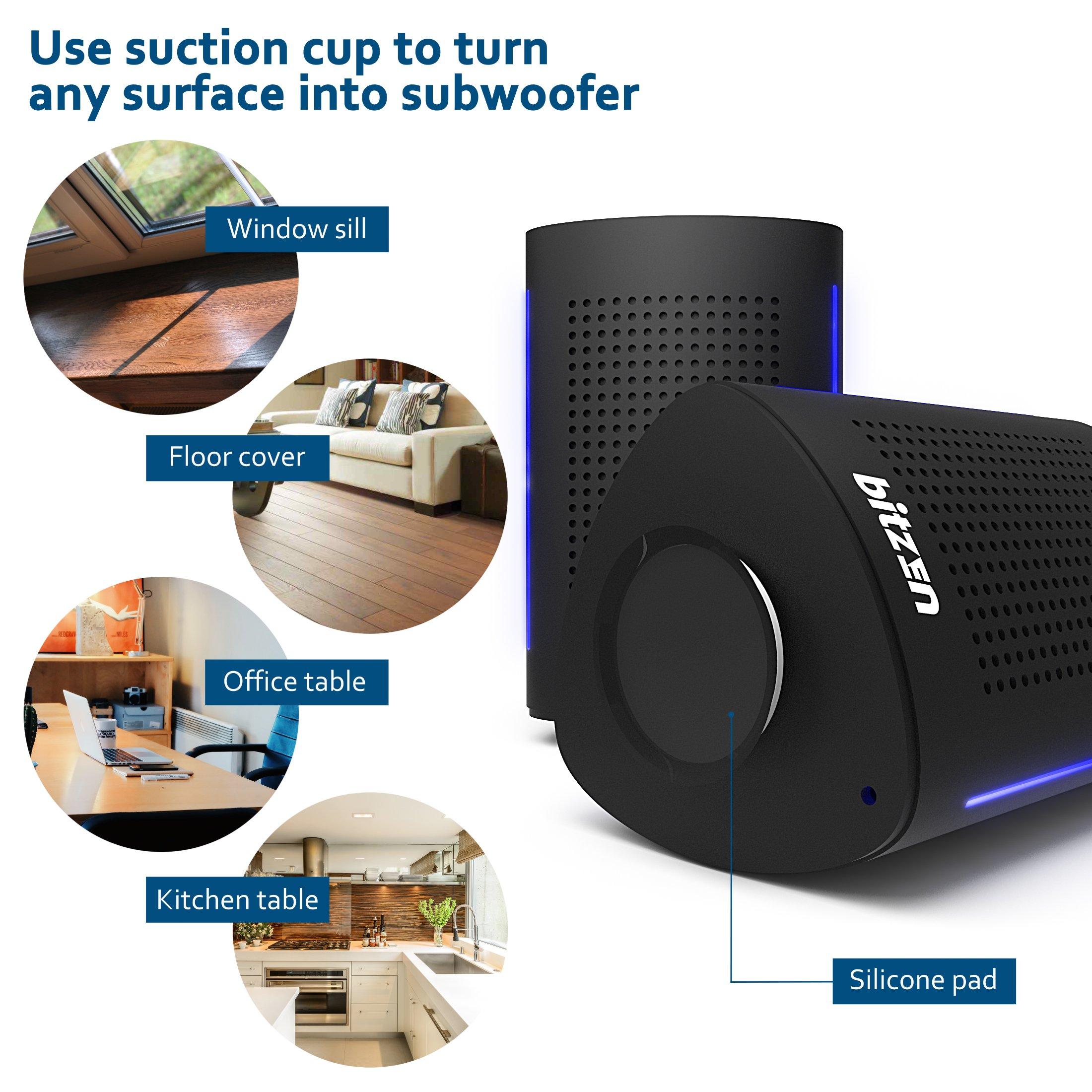 Bluetooth Computer Speaker – Wireless Bluetooth Speaker – Bluetooth Speaker for Women Men – Audio Bluetooth Speaker for iPhone Android Laptop – True Wireless Speakers – Portable Bluetooth Speakers by Bitzen (Image #2)