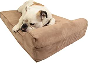 "Big Barker Mini - 4"" Pillow Top Orthopedic Dog Bed with Headrest for Small and Medium Sized Dogs 20-50 Pounds"