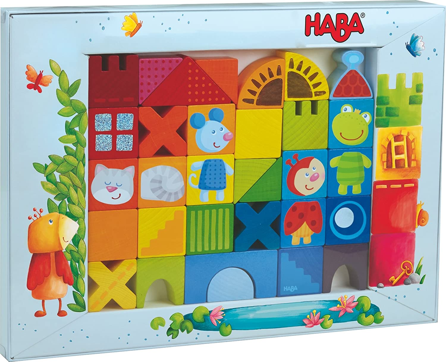 HABA 302580 Cat//Mouse and Friends Building Blocks