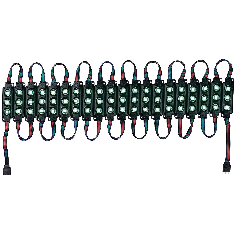 Black Light Strip Lavolta 3CL20B 20-Piece RGB 5050 SMD 3 LED Module IP67 Waterproof 9 ft