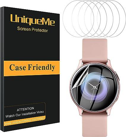 UniqueMe [6 Pack] Protector de Pantalla para Samsung Galaxy Watch ...