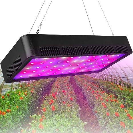 Amazon Com Honesorn 600w Led Grow Light Full Spectrum Growing Lamp With Veg Bloom Switch Uv Ir Indoor Garden Plant Light With Adjustable Rope Grow Lights For Indoor Plants Greenhouse 600w Home Improvement