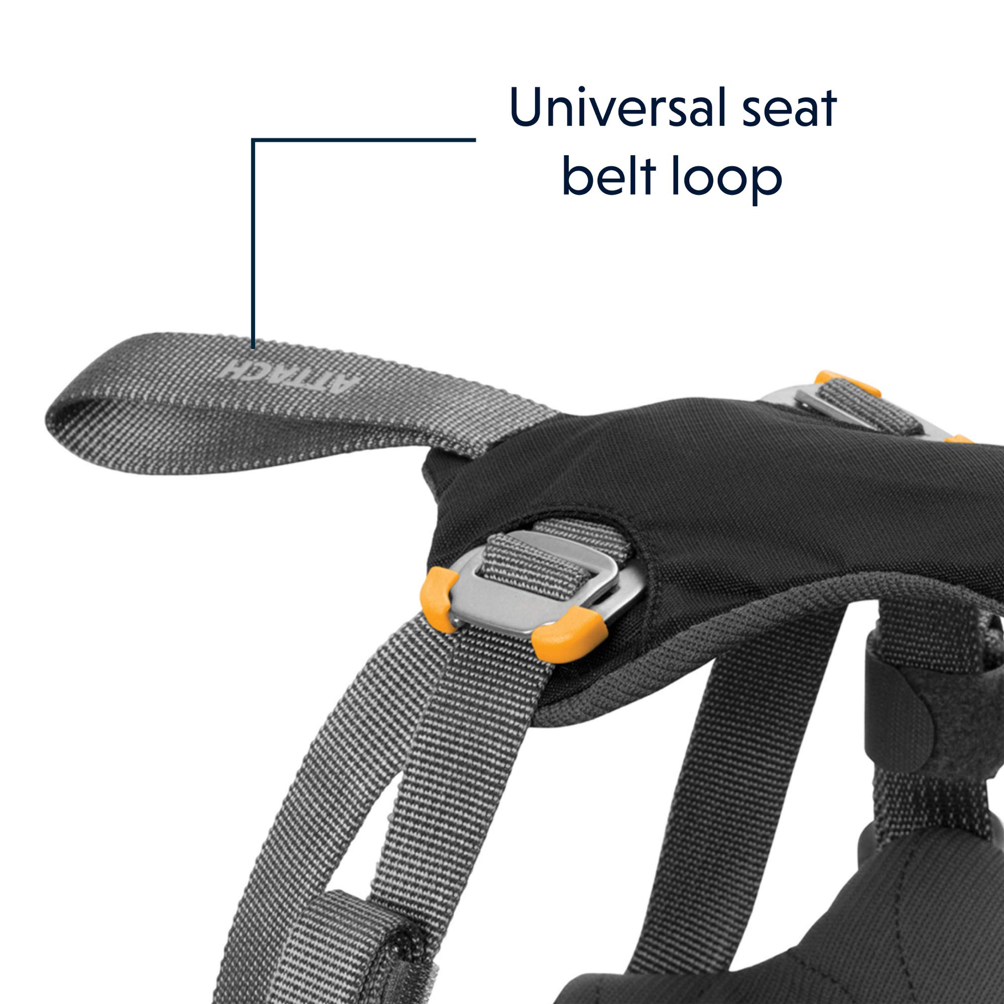 RUFFWEAR - Load Up, Dog Car Harness with Strength-Rated Hardware, Secure Vehicle Restraint, Universal Seat Belt Attachment, Obsidian Black, Medium by RUFFWEAR (Image #3)
