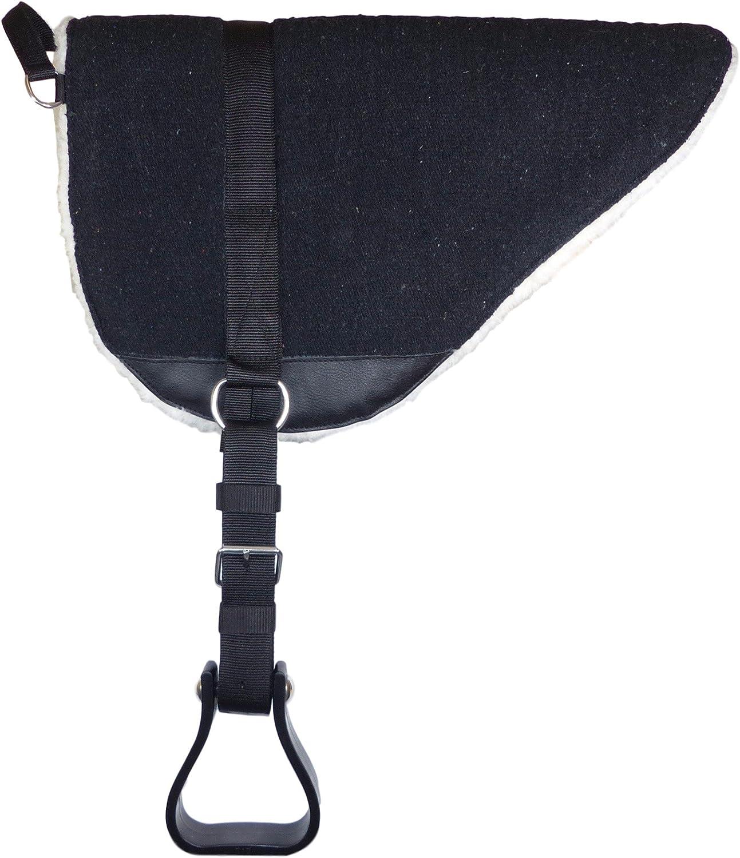 Protector para lomo de caballo con estribos color negro Thor Equine TEBPS