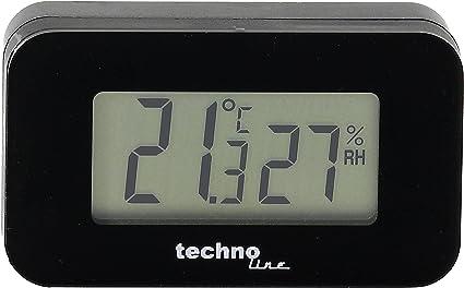 Technoline Thermometer Ws 7009 Auto Thermometer Mit Hintergrundbeleuchtung Für Den Innenraum Schwarz Temperaturanzeige Luftfeuchteanzeige Garten
