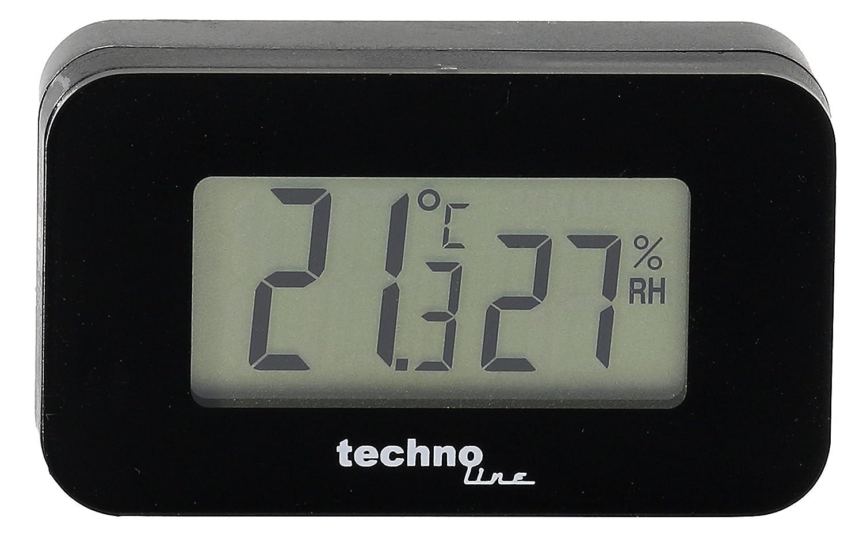 schwarz mini Autothermometer zum Messen der Temperatur im Innenraum 4,0 x 1,2 x 2,3 cm TECHNOLINE WS 7006