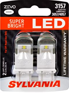 SYLVANIA - 3157 ZEVO LED White Bulb - Bright LED Bulb, Ideal for Daytime Running