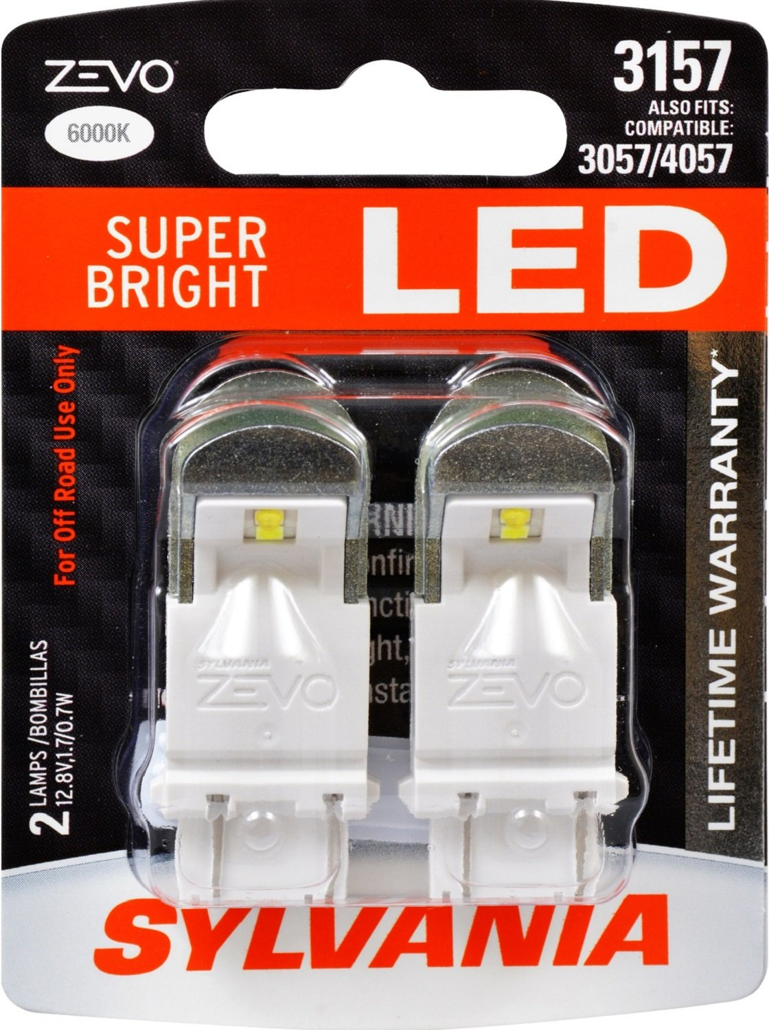 Amazon.com: SYLVANIA ZEVO 3157 White LED Bulb, (Contains 2 Bulbs):  Automotive Images