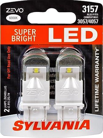 SYLVANIA ZEVO 3157 White LED Bulb   Contains 2 Bulbs. Amazon com  SYLVANIA ZEVO 3157 White LED Bulb   Contains 2 Bulbs