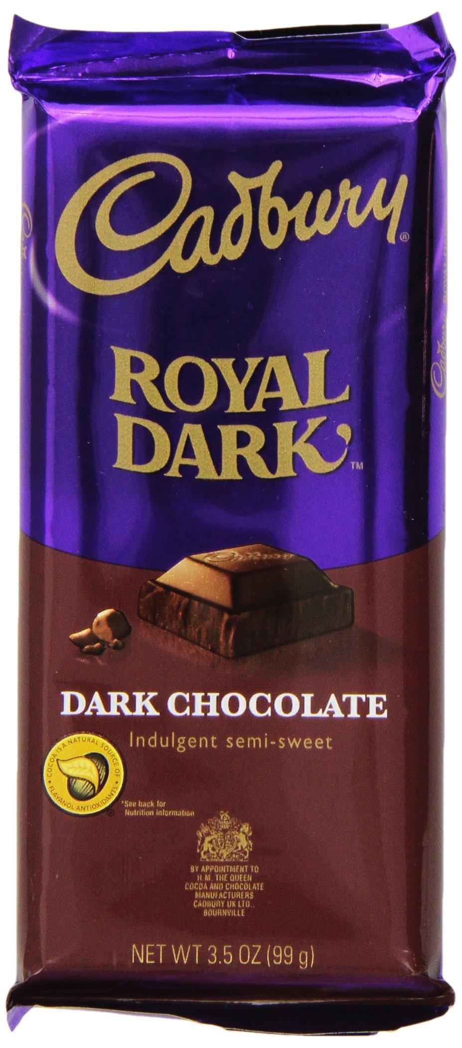 CADBURY Chocolate Candy Bar, Royal Dark Chocolate, 3.5 Ounce (Pack of 12)