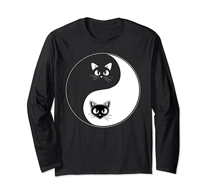 Amazon Cat Yin Yang Shirt Ying Yang Symbol Cat Long Sleeve