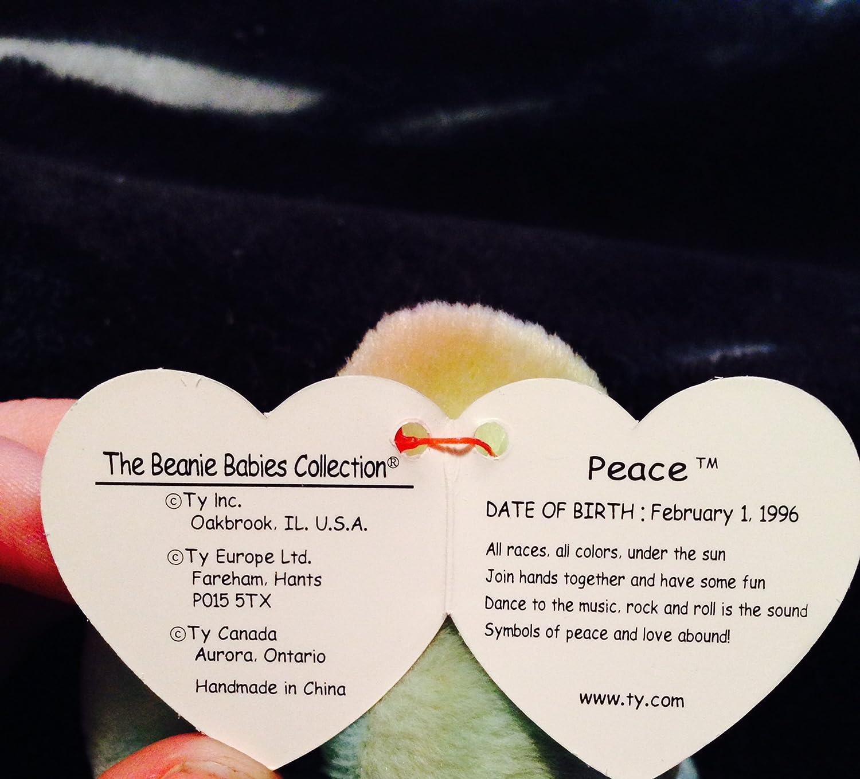 d60a5f03e27 Amazon.com  TY Beanie Baby Peace Bear by TY Beanie Baby  Toys   Games