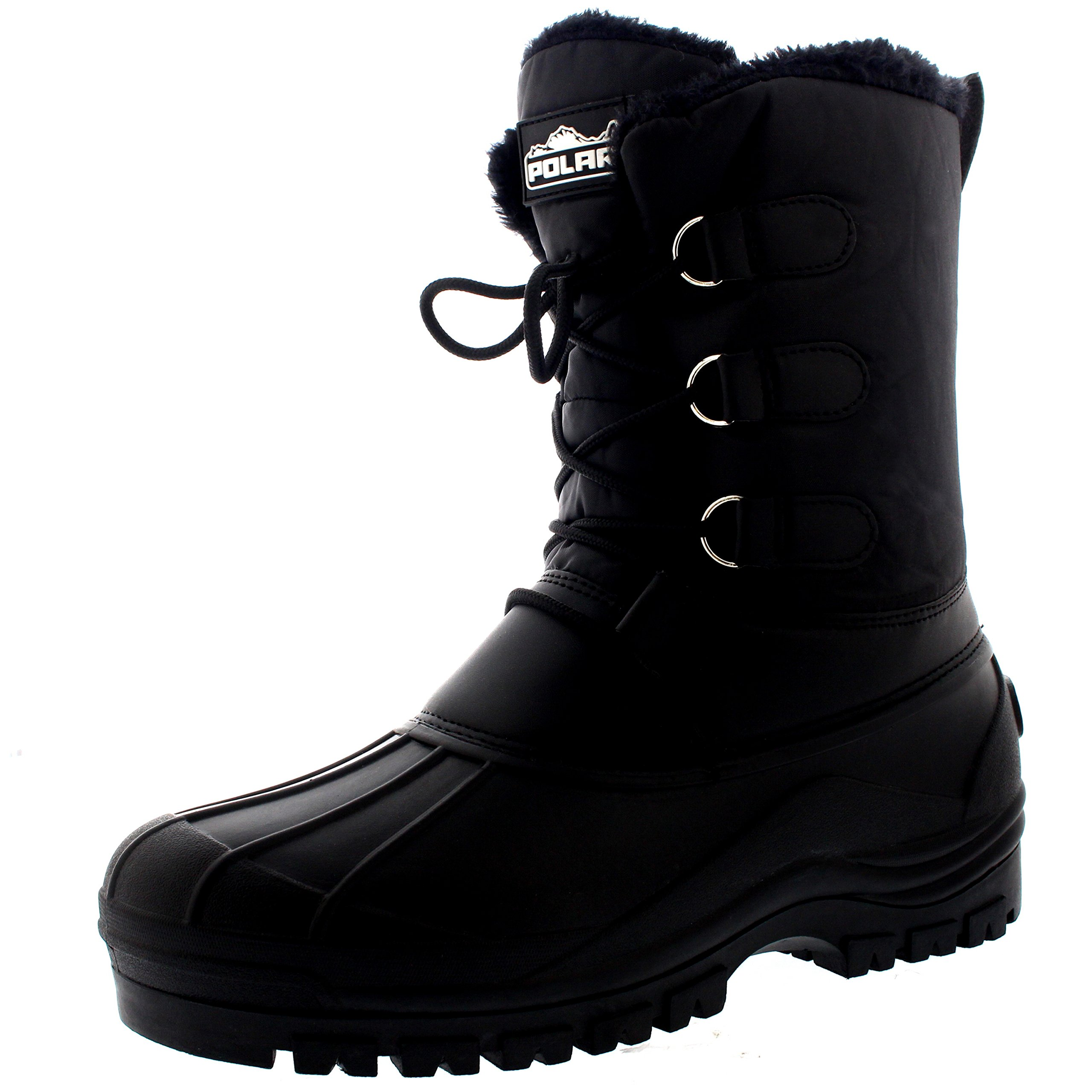 Mens Muck Lace Up Short Nylon Winter Snow Rain Lace Up Casual Duck Boots - 13 - BLK46 YC0141