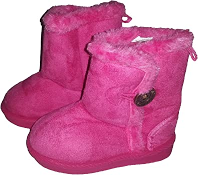 UK Kids Girls Tassel Cotton Lined Winter Warm Ankle Boots Zip Up Flat Shoes Size