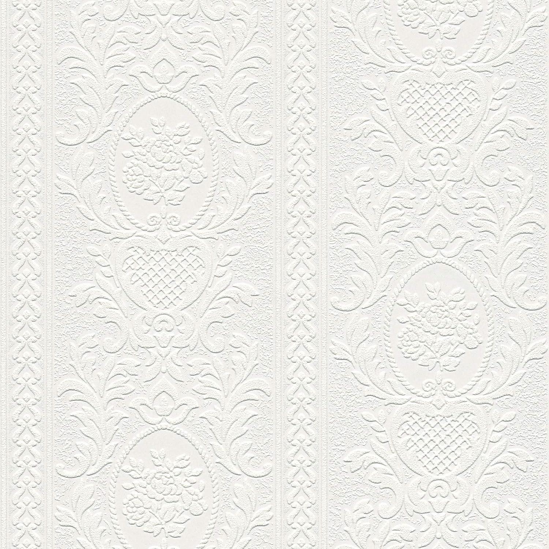 Rouleau Papier peint baroque Tapisserie salon 261618 26161-8 A.S Blanc = 5,33 m/² 10,05 x 0,53 m Cr/éation Einzelblatt