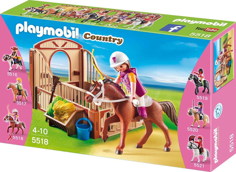 Playmobil 5520 warmblut mit wei brauner pferdebox vos - Pferde playmobil ...