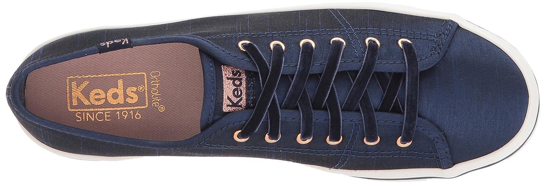 Keds Women's Kickstart B06XDFSVR8 Slub Satin Fashion Sneaker B06XDFSVR8 Kickstart 7.5 B(M) US|Navy 1424d3