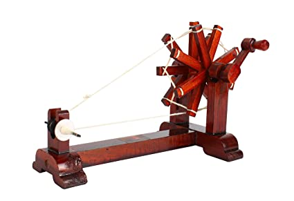RainSound Wooden Charkha | Gandhi Charkha | Spinning Wheel | Home Decore  Handicraft | Brown Colour