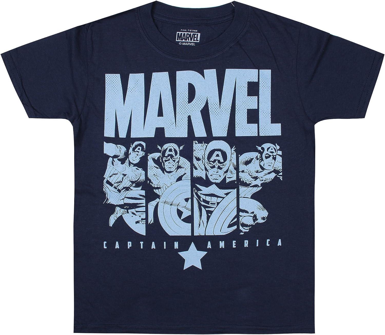 Marvel Cap Panels T-Shirt Gar/çon
