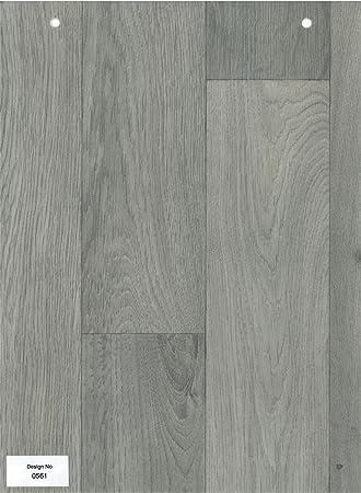 0561-grey Holz Effekt rutschfeste Vinyl Bodenbelag Home Office Küche ...