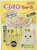 チャオ (CIAO) 猫用おやつ ちゅ~る 焼かつお かつおミックス味 14g×25本入