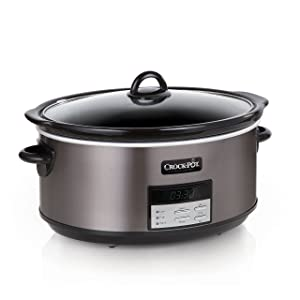 Crock-Pot SCCPVFC800-DS 8-Quart Slow Cooker, Programmable, Black Stainless
