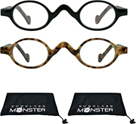 74b9d59a33c8 Oval Reading Glasses for Men   Women with Plastic Retro Classic Vintage  Frame +1.00 to