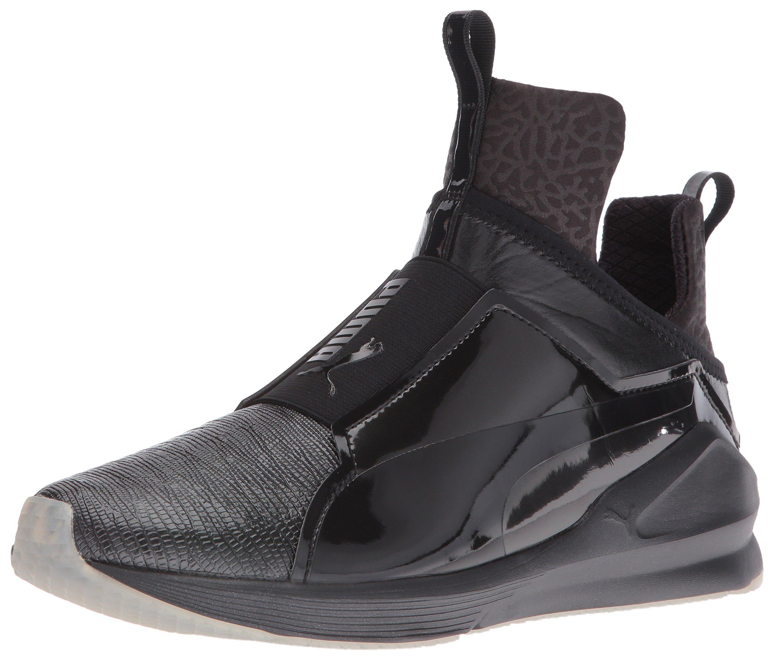 PUMA Women's Fierce Metallic Cross-Trainer Shoe, Black, 7.5 M US